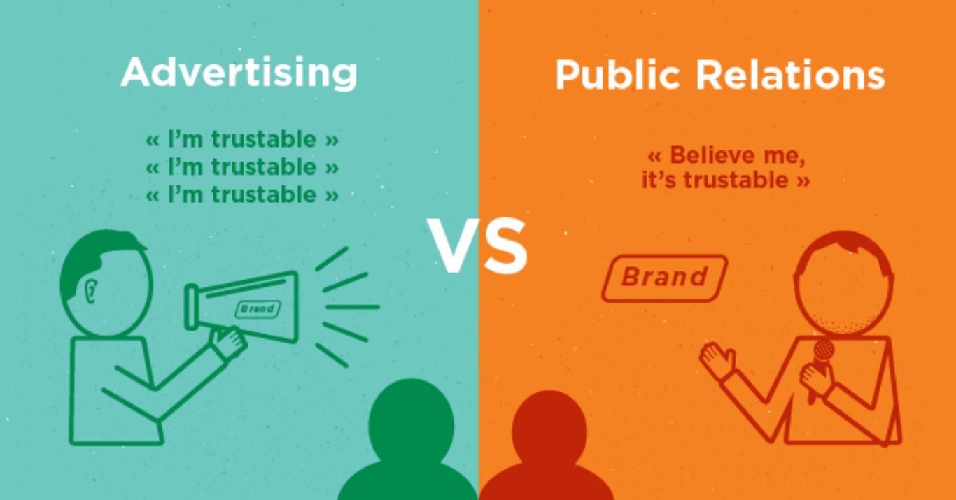 Sự khác nhau giữa PR và quảng cáo