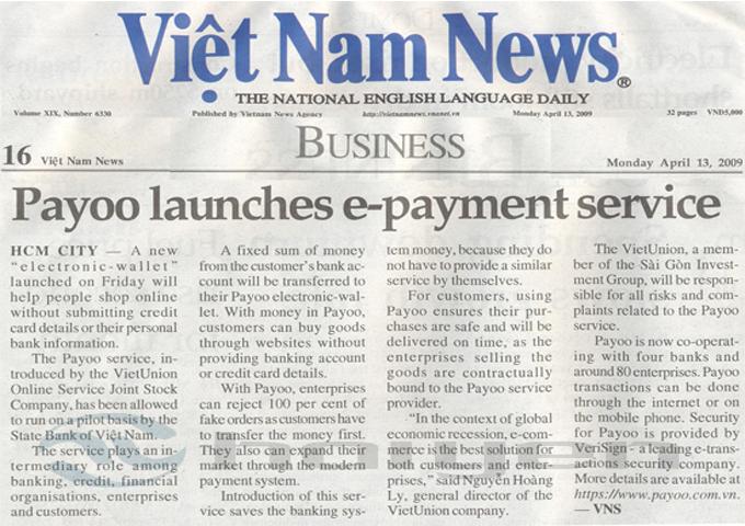 Bảng báo giá quảng cáo báo Việt Nam News 2017