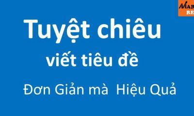 công thức viết tiêu đề đơn giản - http://marketingreview.vn/