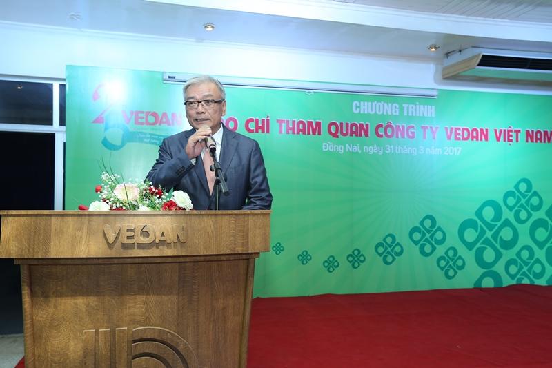 Ông Yang Kun Hsiang, Tổng Giám đốc Vedan Việt Nam