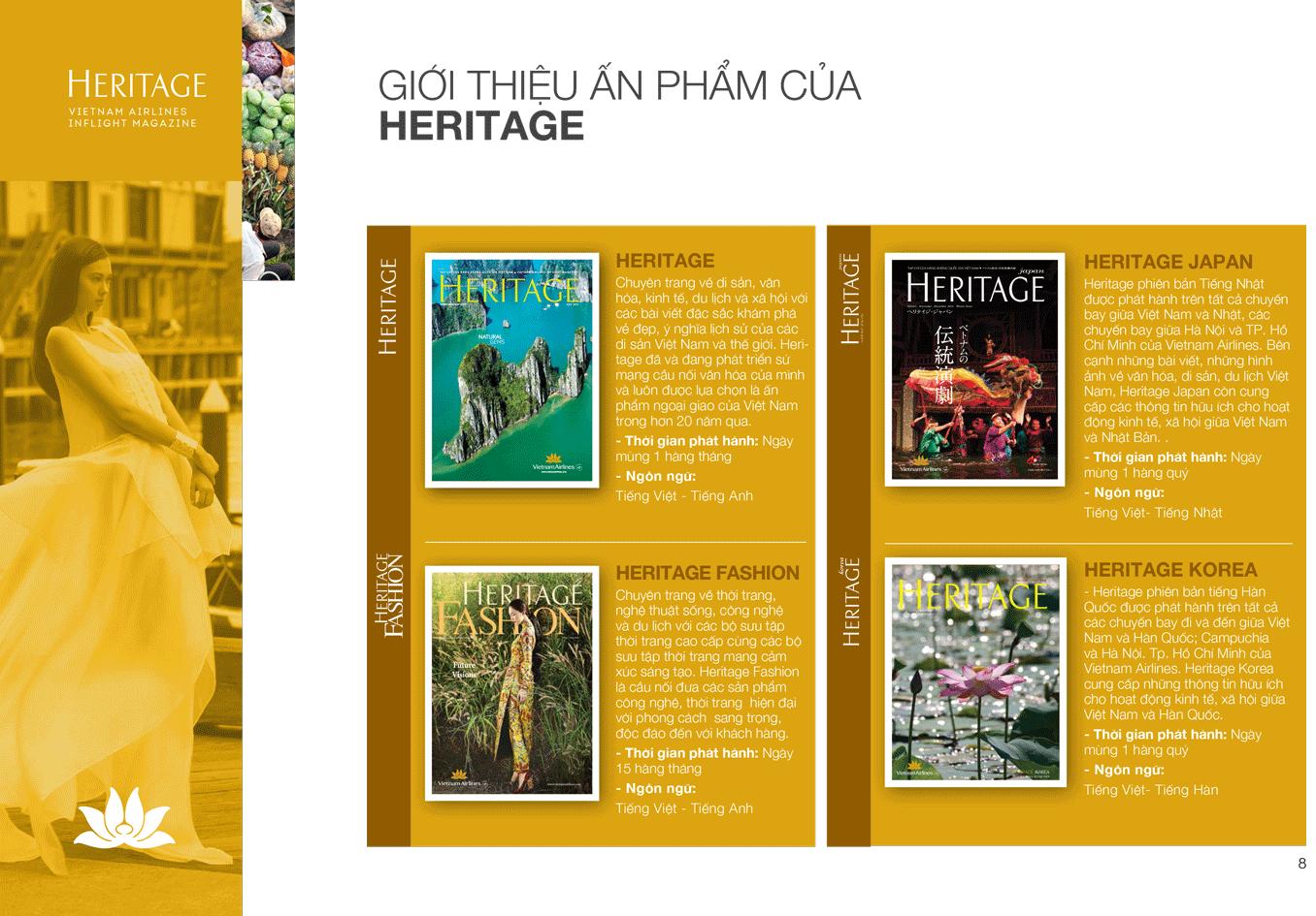 Bảng báo giá quảng cáo Tạp chí Heritage