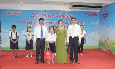 Vedan Việt Nam khen thưởng cho con em các công nhân viên