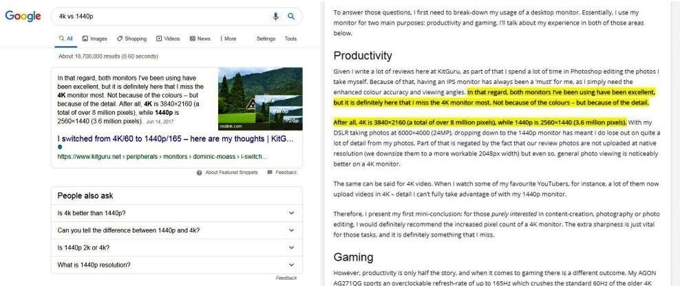 Google vừa triển khai rộng rãi một tính năng mới cho Google Tìm kiếm. Nếu bạn tìm kiếm trên Google và nhấp vào bài ở vị trí nổi bật (Featured Snippet), Google sẽ bôi đậm nội dung cốt lõi mà bạn đang cần trong bài.