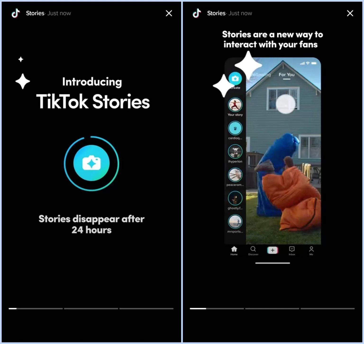 """Bắt chước Snapchat, TikTok """"nhá hàng"""" tính năng Stories - marketingreview.vn"""